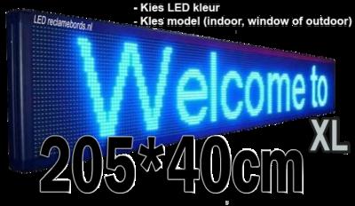 Professionele LED lichtkrant afm. 205 x 40 x 7 cm
