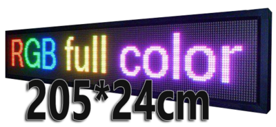 Full Color LED lichtkrant 205*24cm - RGB