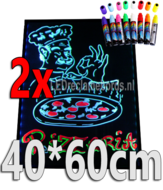 2-stuks-:-LED-schrijfbord-40cm*60cm-|-90-functies