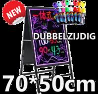 Dubbelzijdig-LED-schrijfbord-70cm*50cm-|-90-functies