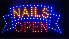 LED bord 'NAILS OPEN'